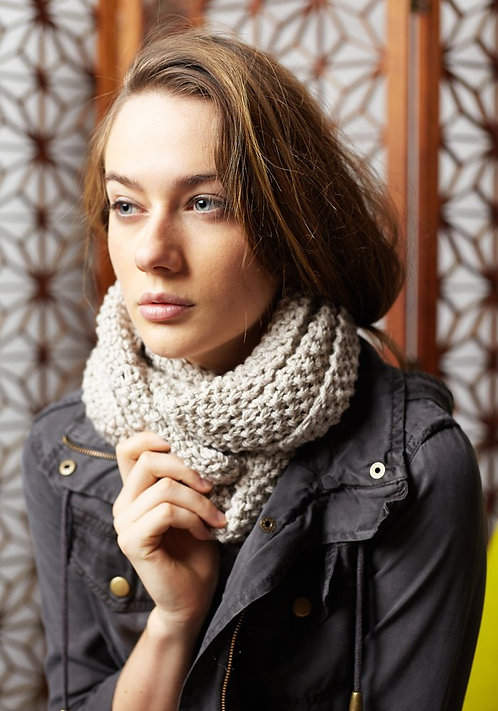 315 Two Strand Moss Cowl - digital download