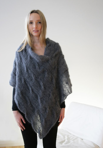 72891c728 331 Mohair Cable Poncho - digital download