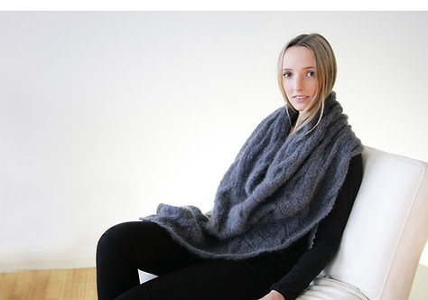 331 Mohair Cable Poncho - digital download