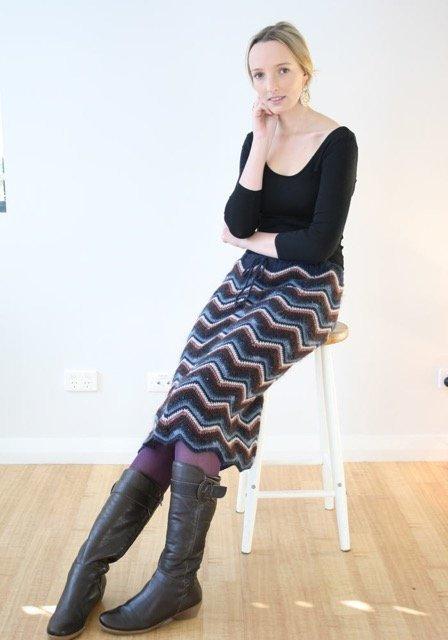 327 Retro Chevron Skirt - digital download