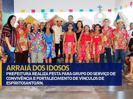 PREDEITURA REALIZA FESTA PARA GRUPO DO SERVIÇO DE CONVIVÊNCIA E FORTALECIMENTO DE VÍNCULOS DE ESPÍRI