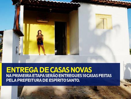 ENTREGA DE CASAS NOVAS