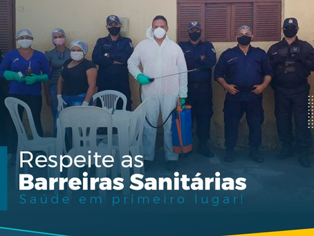 RESPEITE AS BARREIRAS SANITÁRIAS
