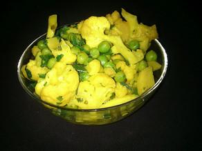 Cauliflower, Paneer and Pea Curry