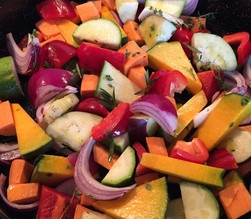 Quick Mid-week Roasted Mediterranean Vegetables