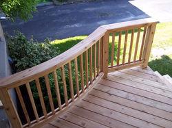 Curved Cedar Porch & Rail