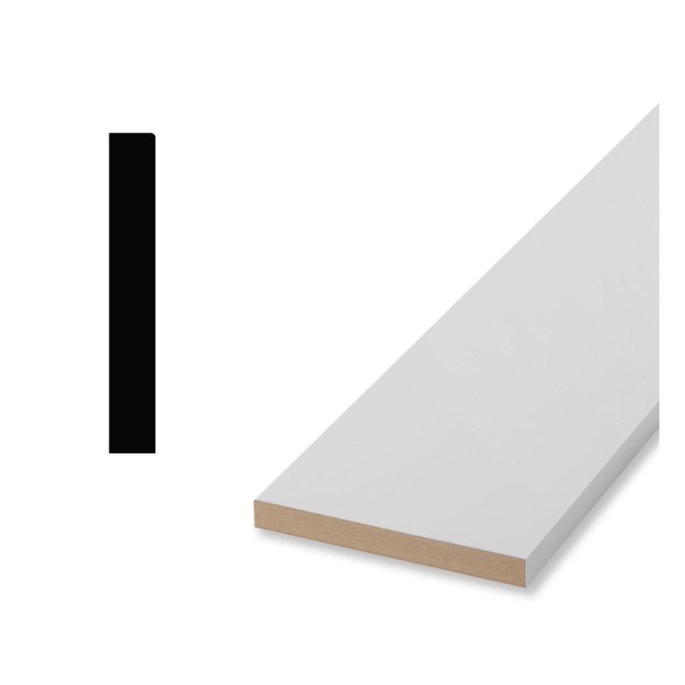3 1/2 x 11/16 x 192 MDF Board - Primed | mdfsolutions