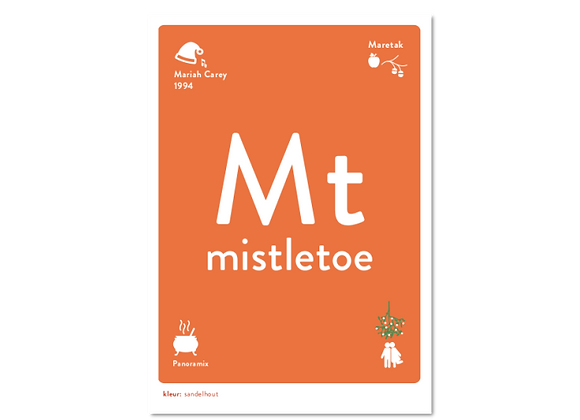 Mistletoe wenskaart