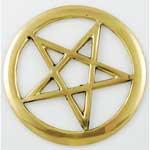 """Brass Cut-Out Pentagram 3"""""""