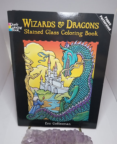 Wizards & Dragons Stained Glass Coloring Book
