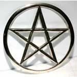 """Cut-Out Pentagram 5 & 3/4"""""""