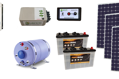 220v 1200w solar hot water kit for inboard engine