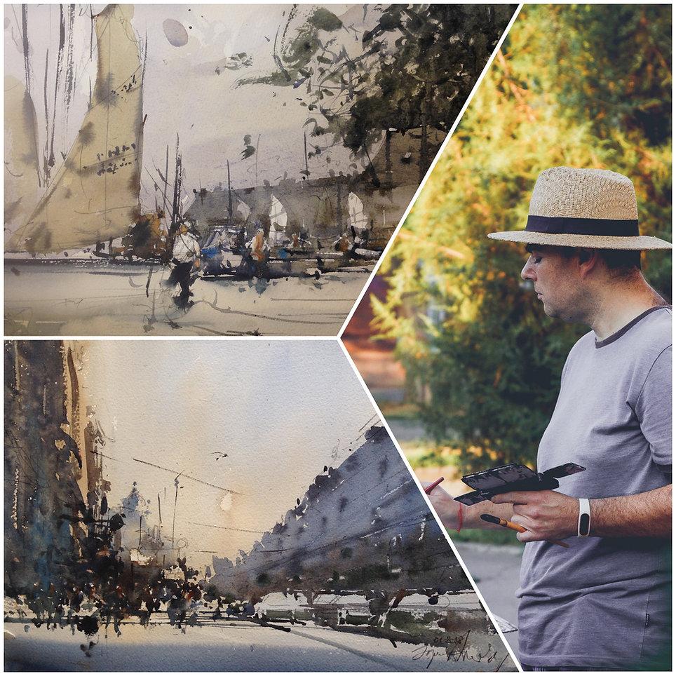 Акварель с Юрием Акопянц - в поиске городских историй