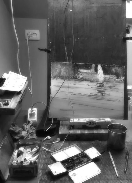 Акварель с Юрием Акопянц - Творческие работы смотреть