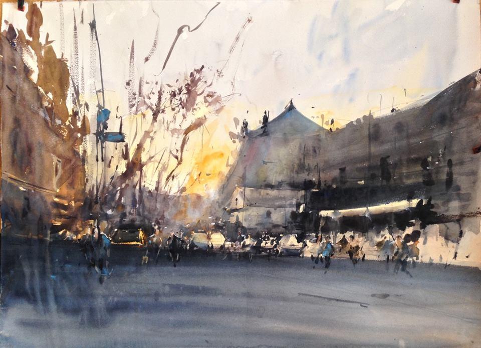 Восход на рыночной площади.