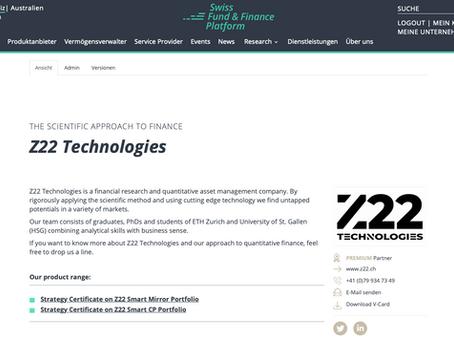 Z22 Technologies joins Swiss Fund Plattform