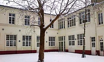 It always snows during our Paris course...