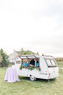 Freehold NJ backyard wedding cocktail caravan