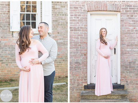 Winter Maternity Photos | Allaire State Park | Lauren & Anthony