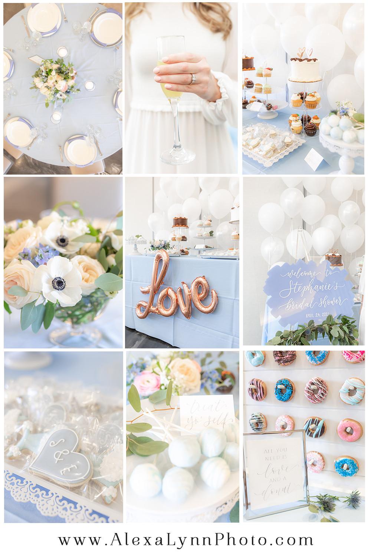 Romantic Something Blue Dusty Blue Bridal Shower