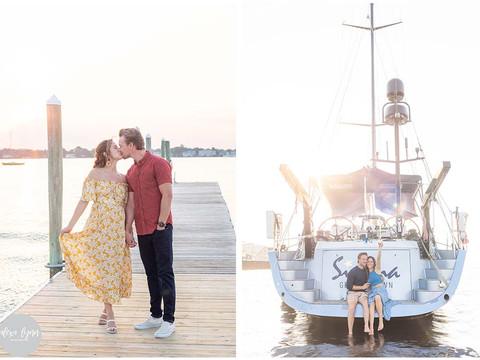 Romantic Sunset Sailboat Engagement on the Navesink River, NJ