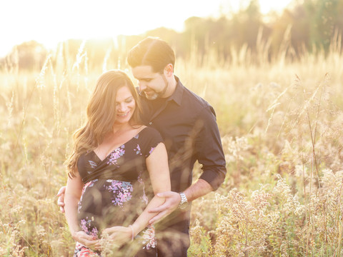 Mercer Meadows Maternity Photos | Lawrenceville, NJ | Angie & Sean