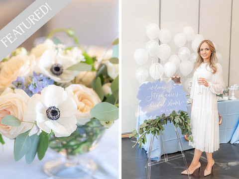 FEATURED! Something Blue Bridal Shower at Galloping Hill Golf Course in Contemporary Weddings Mag