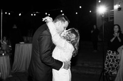 Freehold NJ backyard wedding couple kissing