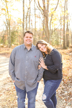 Engagement photos Allaire Park head on shoulder