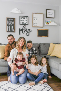 family photos play room