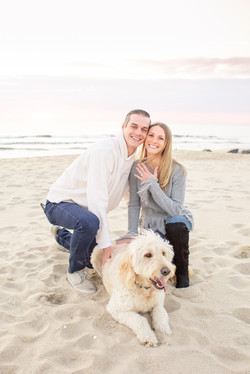 Sea Girt proposal with ring and dog