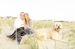 Sea Girt proposal sitting on beach and dog