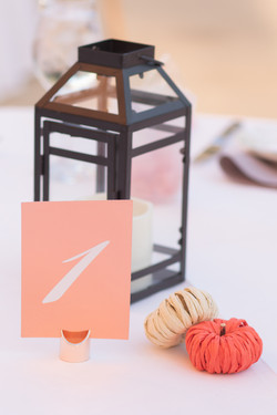 The Asbury Hotel wedding pink fall details