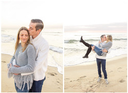 Sea Girt proposal photo shoot hugging on beach