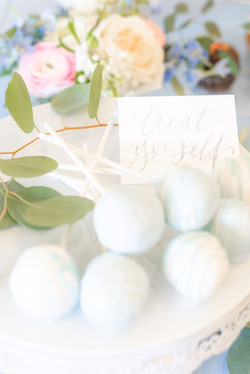 Galloping Hill Golf Course bridal shower cake pops