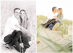 Sea Girt proposal photo shoot sitting in dunes
