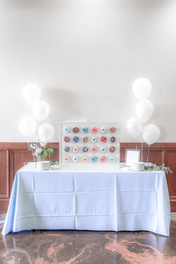 Galloping Hill Golf Course bridal shower donut wall