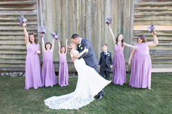 Monmouth battlefield Craig House purple wedding