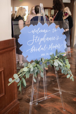 Galloping Hill Golf Course bridal shower welcome sign
