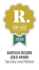 Martech Record 2020 Top Entry Level Platform, Gold