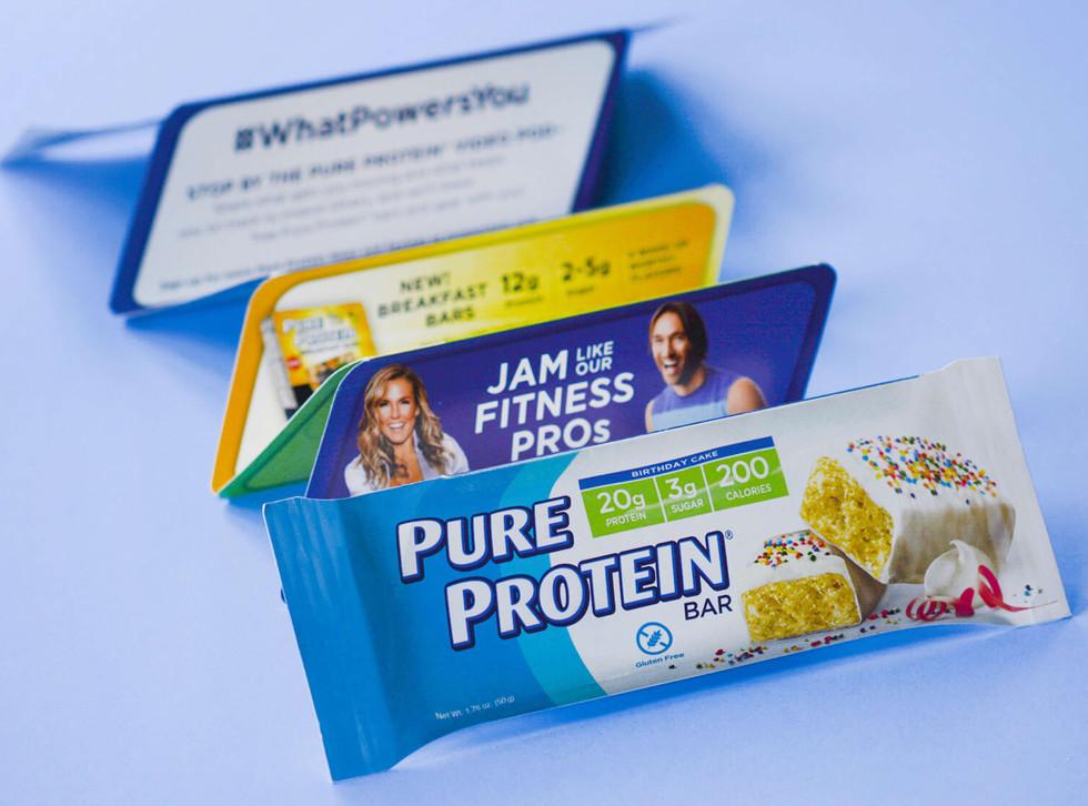 Pure Protein Die Cut Brochure