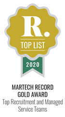 Martech Record 2020 Top Recruitment and Managed Service Teams, Gold