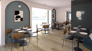 Restaurant Avant Garde, Design Elémentaire