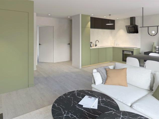 Visualisation 3D de l'appartement Kaki Moderne |Ark & Home