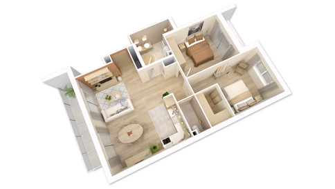 Visualisation 3D d'un appartement