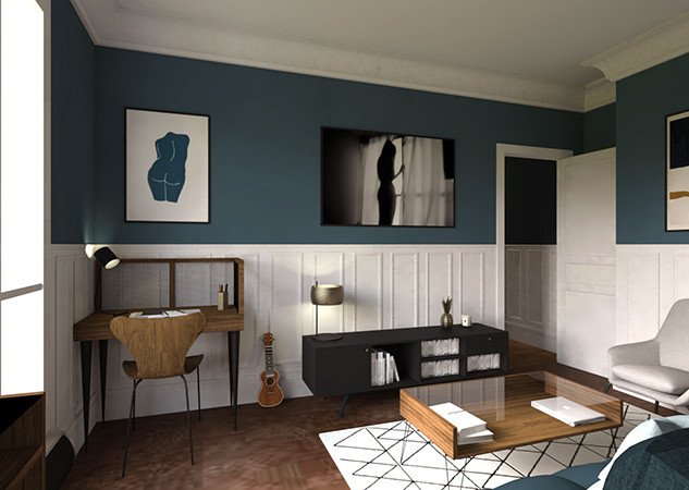 Décoration d'appartement, Paris VII