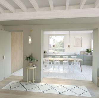 Visualisation 3D cuisine et entrée, Design Elémentaire