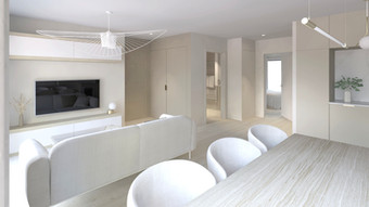 Visualisation 3D d'un appartement témoin