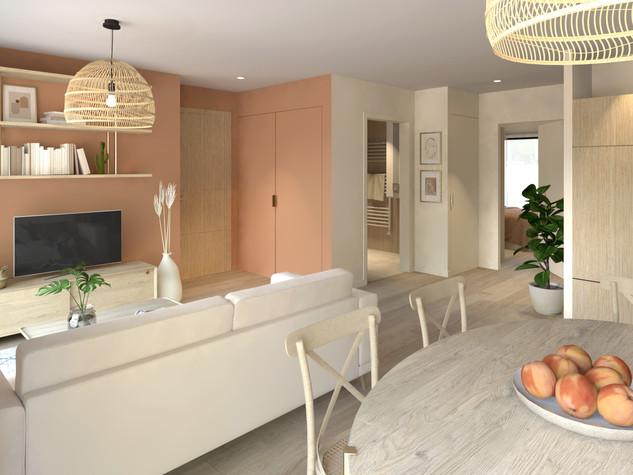Visualisation 3D de l'appartement Bohème |Ark & Home