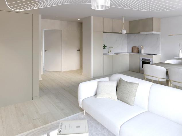 Visualisation 3D de l'appartement Beige Classique |Ark & Home